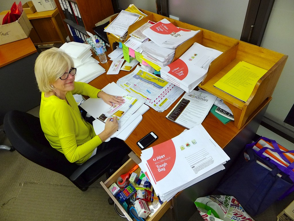 Our Sell gold online through Postsafe: Divorce your Jewellery team member Cathy hard at work sending out the free postsafe kits hard at work sending out Postsafe packs!