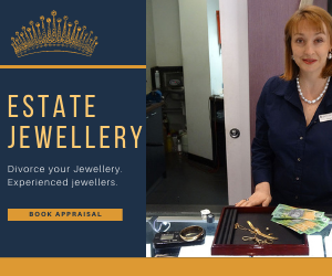 sell estate jewellery todivorece your jewellery here with with gemologist Angela